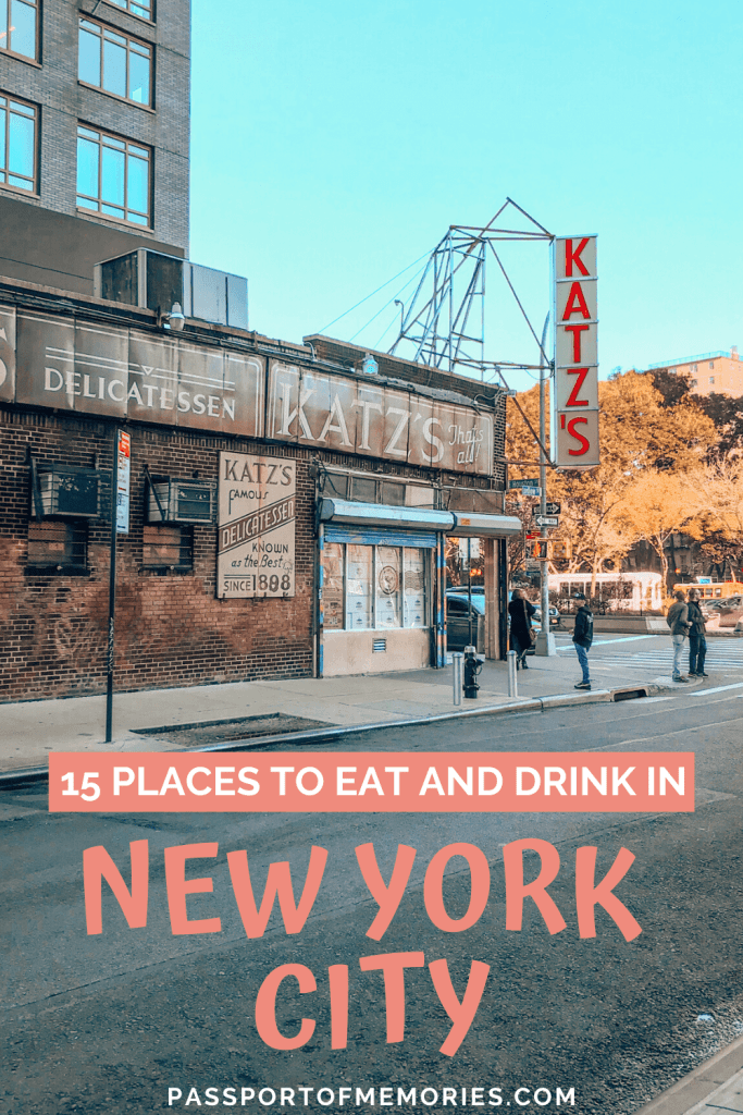 15 Places to Eat and Drink in New York City