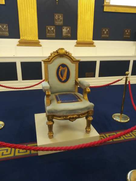 throne at st. Patrick's hall photo courtesy of Hugo Morel
