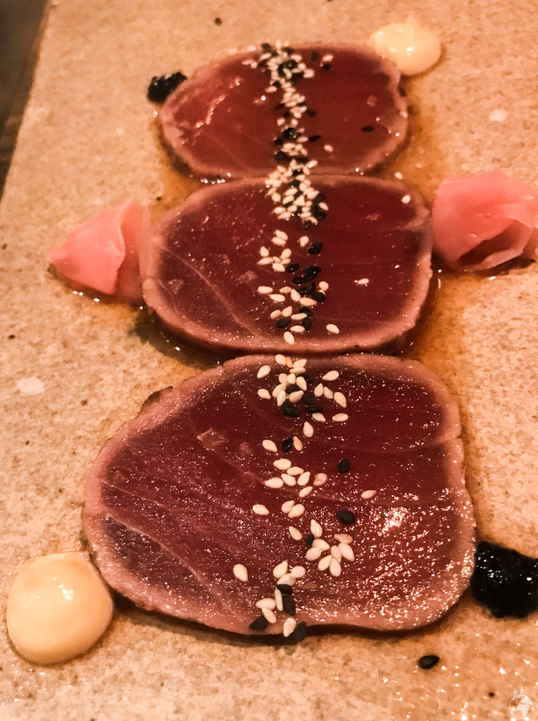 A Nikkei style Tuna Tiradito at Charango, Cape Town, South Africa