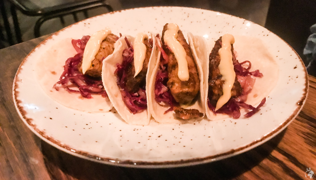 Dirt Rubbed Tuna tacos at Charango in Cape Town, South Africa