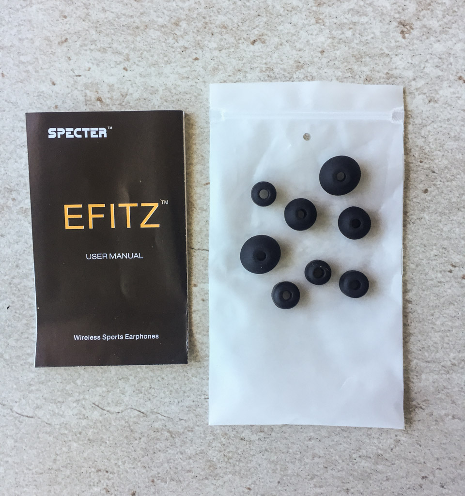 The extra earbud cushions that come with the Efitz can accommodate any size ears