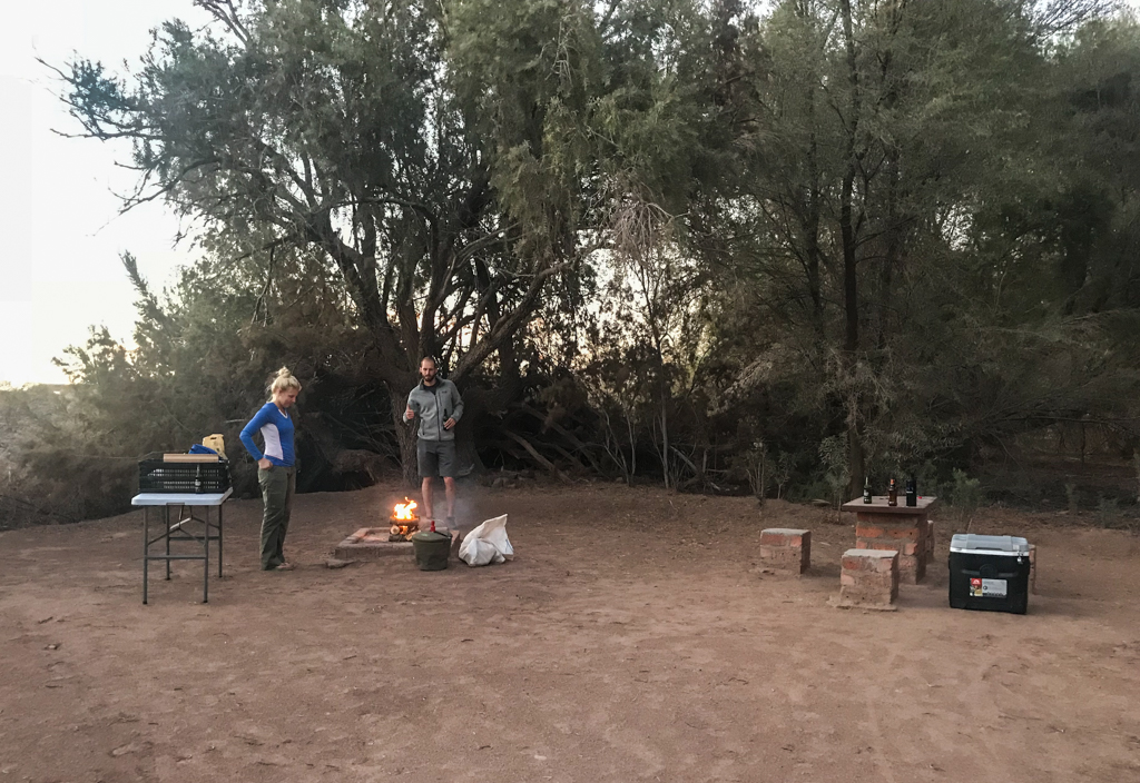 Hobas campsite dinner time!
