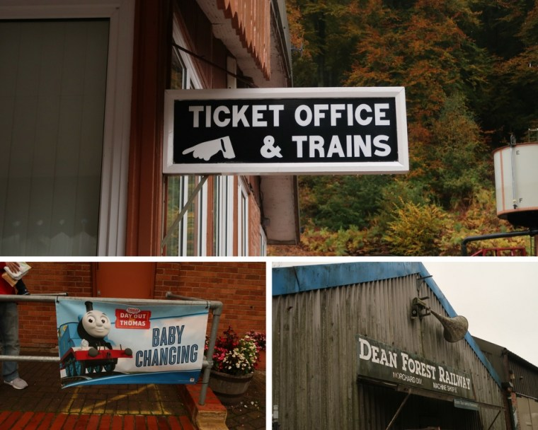 a fun day out with Thomas the tank engine - photo collage from Forest of Dean Railway Thomas day out