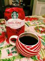 Starbucks Holiday Blend brewed coffee