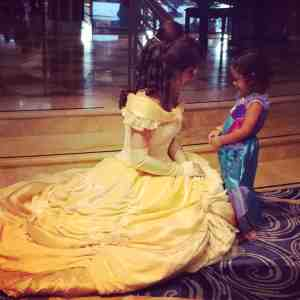 Belle talking with my daughter
