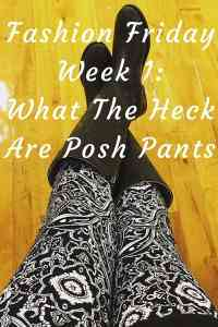 Fashion Friday Week 1: What The Heck Are Posh Pants?