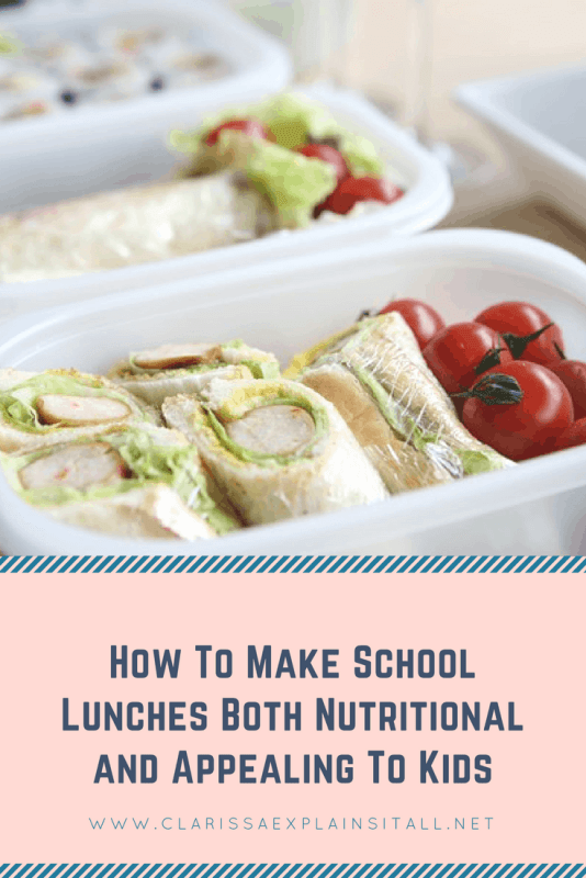 How To Make School Lunches Both Nutritional and Appealing To Kids