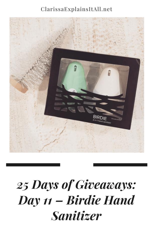 25 Days of Giveaways Day 11 Birdie Hand Sanitizer