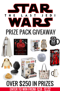 Celebrate Star Wars: The Last Jedi With This Amazing Giveaway #THELASTJEDI #STARWARS