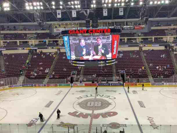 The Hershey Bears hockey team at Giant Center