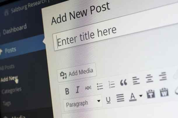 Writing a new blog post on WordPress