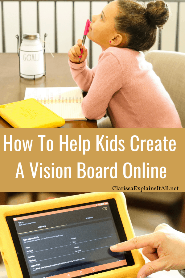 Have you heard of theFire HD 8 Kids Edition Tablet? Learn how to help kids create a vision board online and reach their goals with this device.