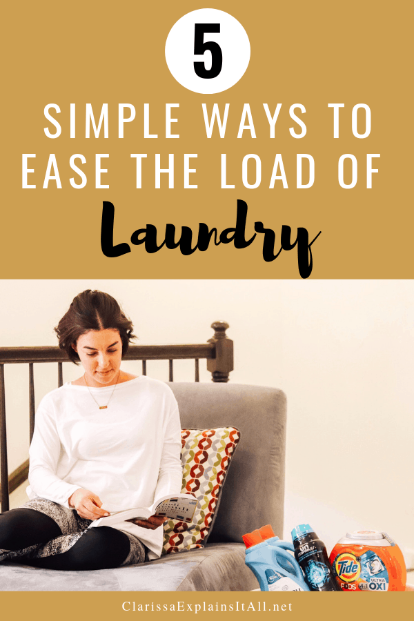 Laundry can be overwhelming. Here are 5 simple ways to ease the load of laundry, thanks to some help fromWalmart's Online Grocery Pickup Service.