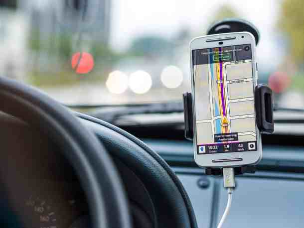 iPhone in a car for GPS best travel apps