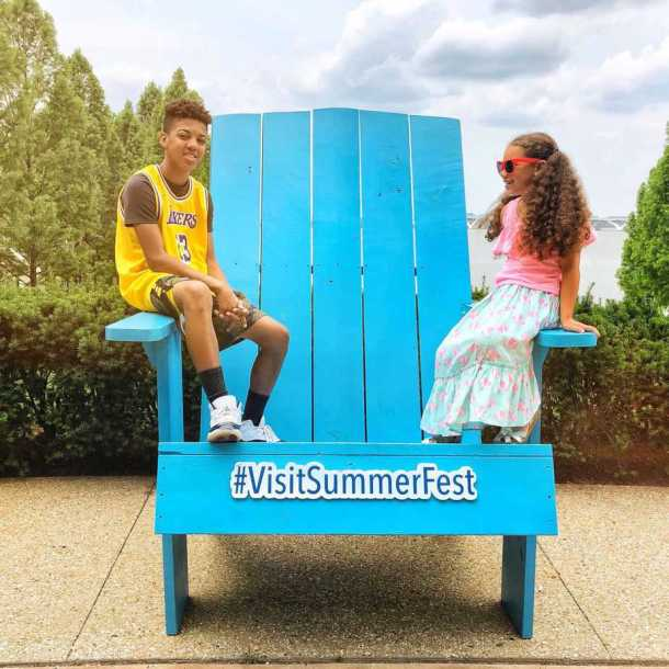 Big Blue Chair at Gaylord National Resort for Visit SummerFest
