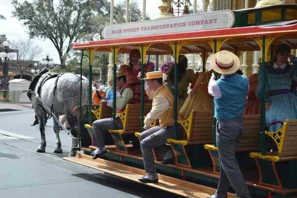 Disney World Main Street U.S.A. Trolley Transportation