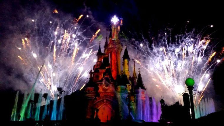 Nightly fireworks Disneyland Paris