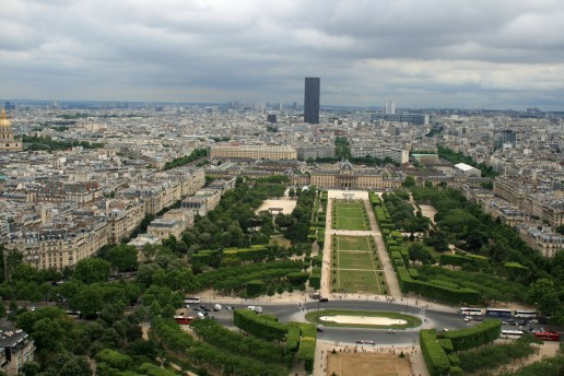 South View over Champ de Mars and Ecole Militaire