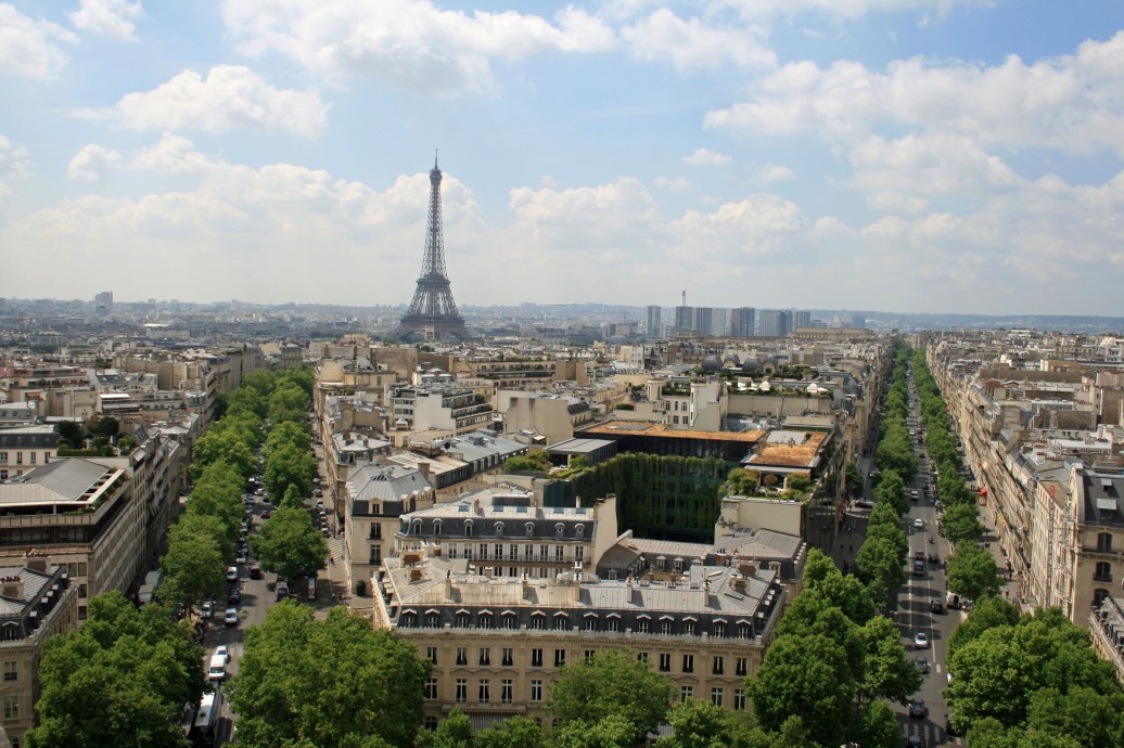 Paris from the Arc de Triomphe