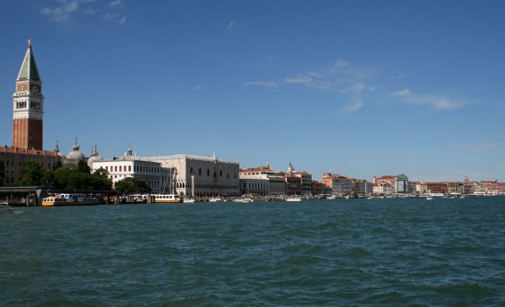 View across the Grand Canal to St Marks Square