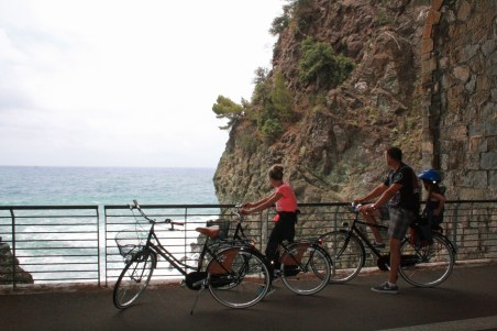 Biking in Framura, Italy