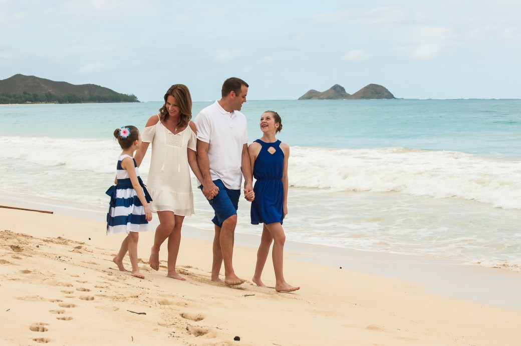 The 'B' Family behind Passports and Pigtails Family Travel Blog in Oahu, Hawaii.