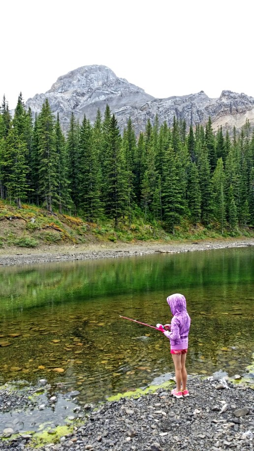 Fishing at Allstones Lake, Alberta, Canada