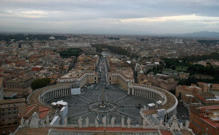 View from atop St Peters Basilica, Vatican