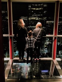 Glass Floor and Night View from the Calgary Tower