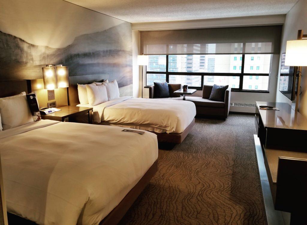 Double Room, Calgary Marriott Downtown Hotel, Calgary, Alberta, Canada