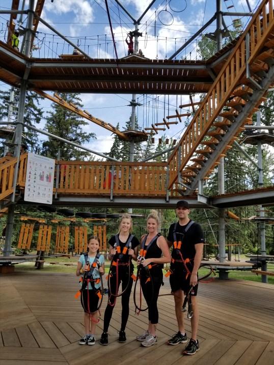 The B Family, Snow Valley Aerial Park, Edmonton, Alberta, Canada
