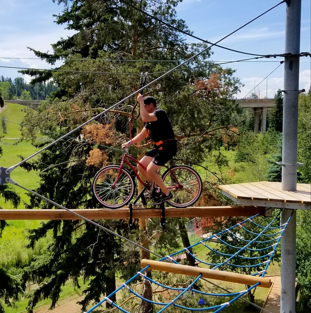 The Bicycle, Snow Valley Aerial Park, Edmonton, Alberta