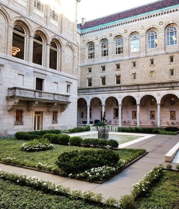 Courtyard of the Boston Public Library, Copley Square, Boston