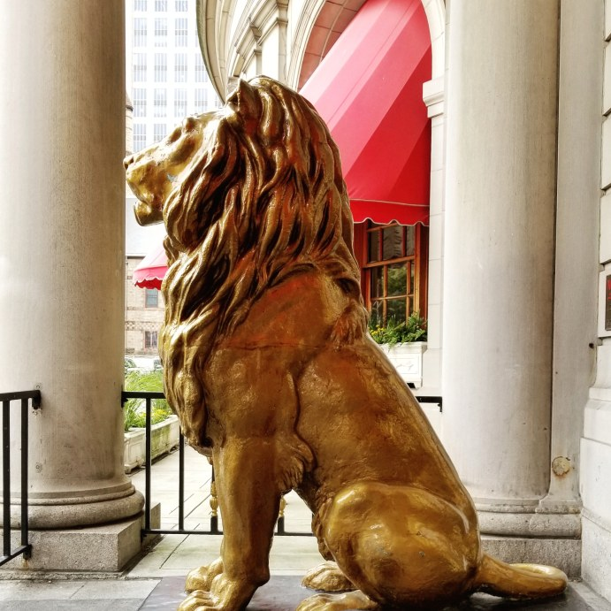 Lions at the St James Entrance, Fairmont Copley Plaza, Boston