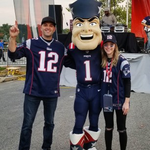 Meeting Pat Patriot! Gillette Stadium