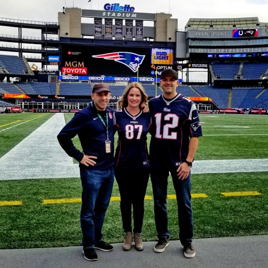 Finally meeting Erik! Gillette Stadium