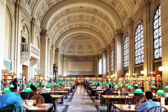 Boston Public Library, Bates Reading Room, McKim Building