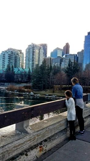 A morning Walk near the River, Calgary