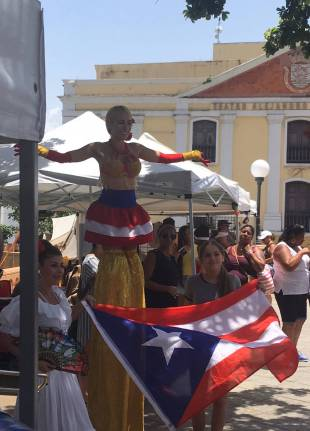 Plaza Colon Puerto Rico Old San Juan Dancers