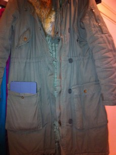 mini and H&M parka (old)