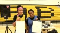 Nicole Young and Bailey Jones MVP's