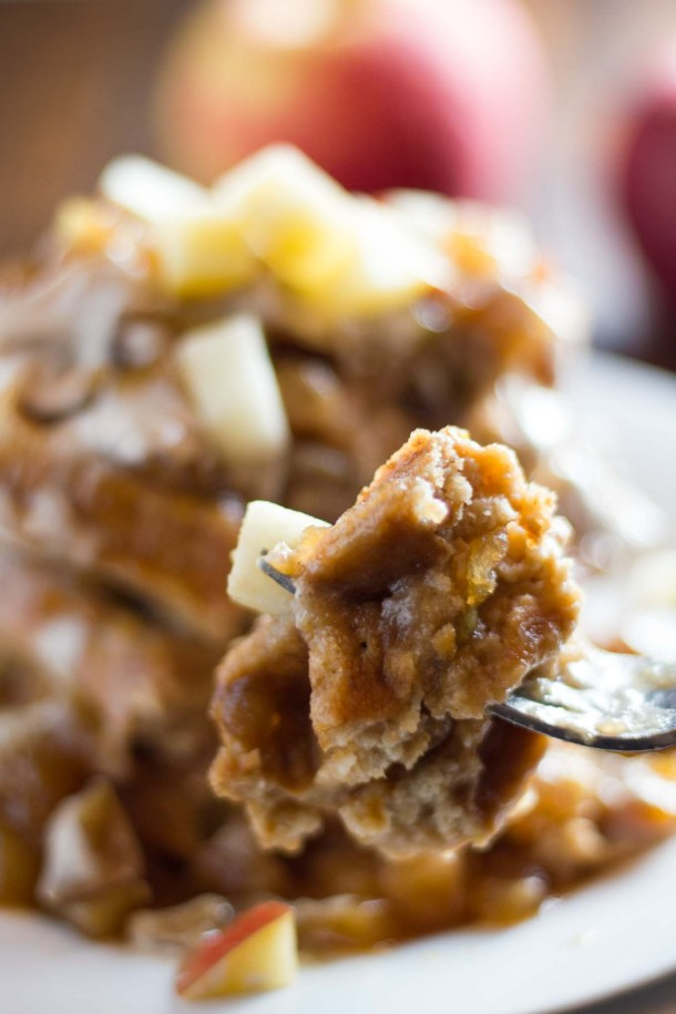 Apple Cider Waffles | https://passtheplants.com