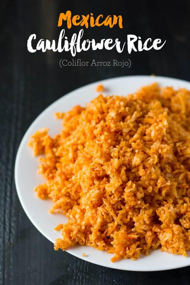 Mexican Cauliflower Rice (Coliflor Arroz Rojo)   https://passtheplants.com