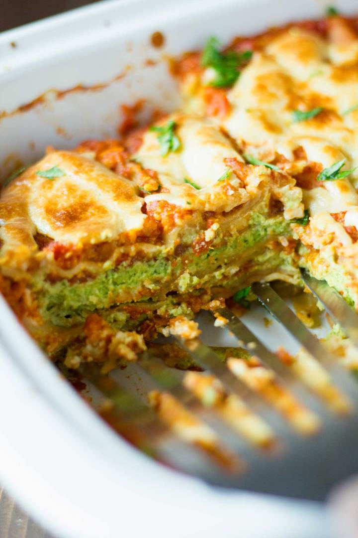 Best Damn Vegan Lasagna | Oil-Free | https://passtheplants.com
