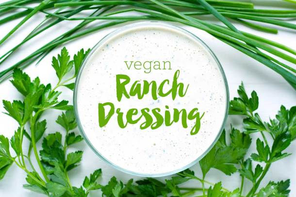 Vegan Ranch Dressing | Oil-Free | https://passtheplants.com