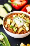 Pressure Cooker Vegan Chili | Instant Pot Vegan Chili | Plant-based Chili | Healthy Chili | https://passtheplants.com/