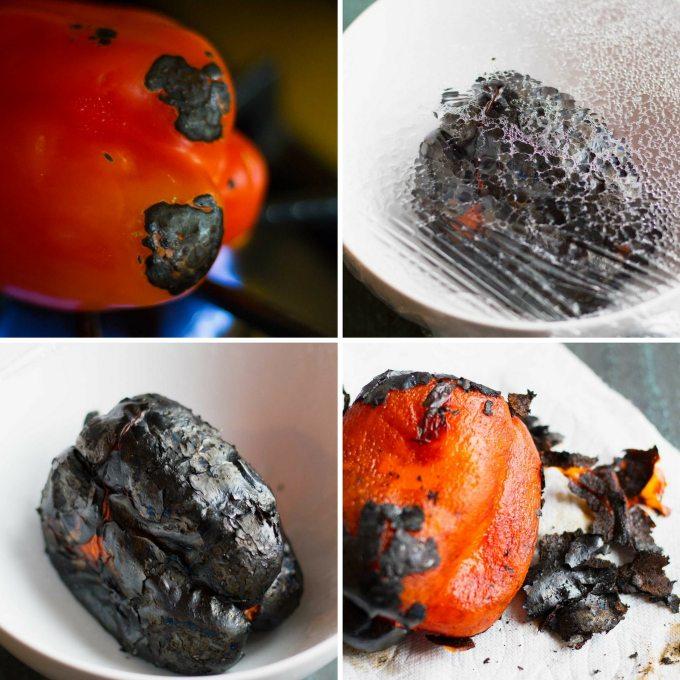 Spaghetti Squash Burrito Bowls   How to Roast Red Peppers   https://passtheplants.com/