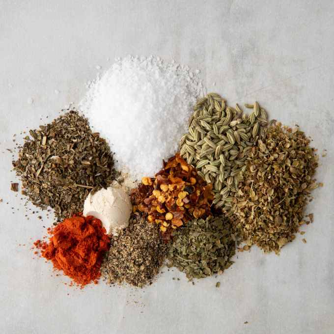 spices for vegan Italian sausage crumbles