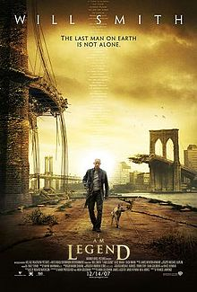 """I Am Legend"": Will Smith plays Robert Neville, the last man on earth trying to find a cure to save humanity. (2007)"