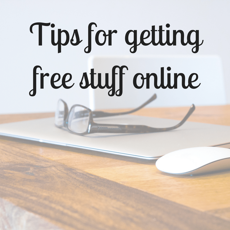 Tips for getting free stuff online